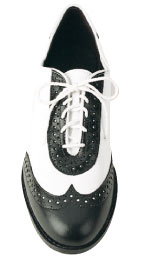 Black and White Wing Tip Shoes Men