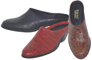 Tic Tac Toes Street Shoes Poly Tooled Western Style Mules