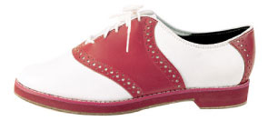 White And Red Saddle Shoes
